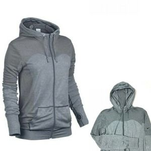 Nike Seamless Dri Fit Knitted Gray Hoodie Small